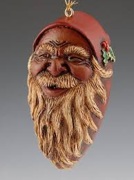 black santa claus ornament santa claus figurines and carved
