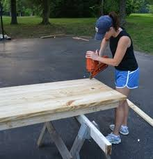 How To Build An Office Desk S Diy Skirted Office Desk Shanty 2 Chic