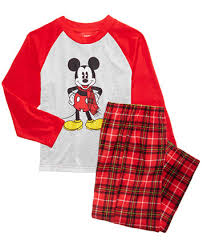 briefly stated mickey mouse pajama set toddler boys 2t 4t
