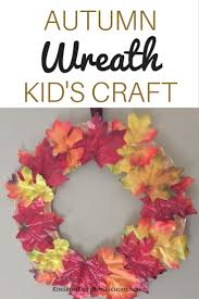 paper plate autumn wreath kid u0027s craft