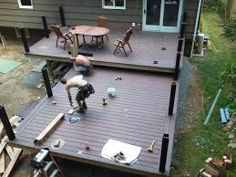 maintenance free trex deck by level deck surface pavolony