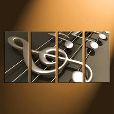 music note home decor 4 piece photo canvas music notes huge pictures music canvas print