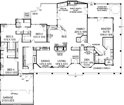 ranch style house plan 5 beds 4 00 baths 3600 sq ft plan 60 452