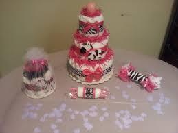 baby shower ideas zebra and pink pink zebra diaper cake