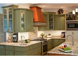 granite countertop patterned copper range hood tile backsplash bar