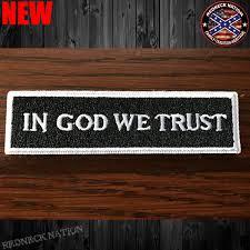 Redneck Flags In God We Trust Velcro Back Hat Patch Vhp 13