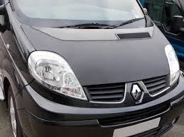 renault van bonnet bra tailored black vinyl 3 4 stone chip protector renault