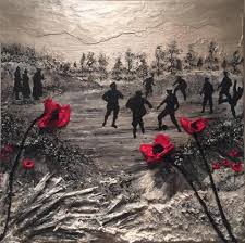 poppy art painting poppies war art remembrance ww1 christmas truce