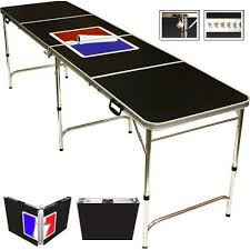 Beer Pong Table Length by Gopong 6 U0027 Portable Folding Beer Pong Flip Cup Table 6 Balls