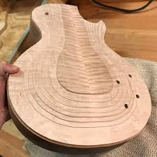 les paul style build weybach custom guitars