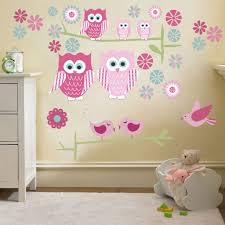 Owl Wall Sticker Owl Bedroom Decor Kids