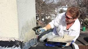 repair chimney stucco over new flashing youtube