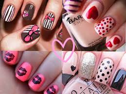 3 cute nail art designs for fallwinter youtube valentine nail art