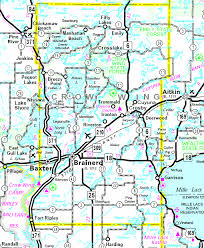 mn counties map minnesota wing county every county
