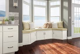 kitchen window bench shenandoah cabinetry painted linen cottage