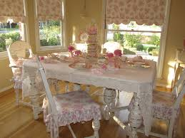Shabby Chic Dining Table Set Dining Room Serenity And Aged White Shabby Chic Dining Room