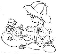 kids tricycle free precious moments coloring pages