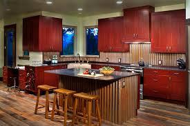 metal backsplash kitchen corrugated metal backsplash kitchen modern with reclaimed cabinets