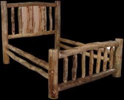 Wood Log Bed Frame Wood Bed Frame Bed Frames Ideas Free Log Furniture Plans