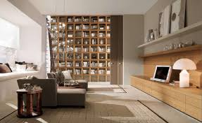 extraordinary basement home library decor using built in wall