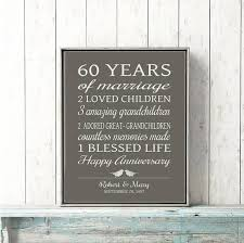 60th anniversary gifts 60th anniversary gift for parents 60 years married sign