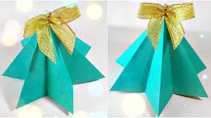 origami christmas tree diy paper decor 3d made easy tutorial for