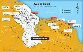 Guyana Map Maps U2013 Exploration Sites