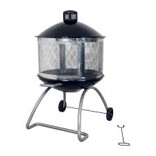 Firepit And Grill by Living Accents 28in Steel Black Firepit At Ace Hardware