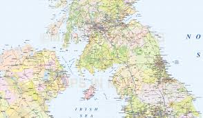 Hull England Map by British Isles Uk County Road And Rail Map 1m Scale In