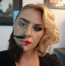 half halloween makeup half man half woman makeup tutorial youtube