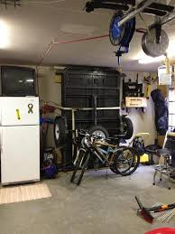 motorcycle trailer storage solution my attempt