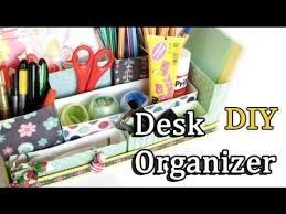 Desk Organiser For Kids Diy Desk Organizer Back To Youtube
