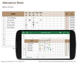 Attendance Spreadsheet Attendance Sheet For Excel Mobile And