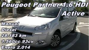 peugeot partner 1 6 hdi active manual diesel 93cv 28 183km garbu