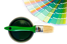 green paint and swatch royalty free stock photos image 34143208
