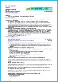 Dot Net Resume Sample by 1 Year Experience As Software Engineer On Asp Net Mvc 4 0 U0026 5
