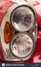 mercedes headlights close up detail of twin headlights and indicator cluster on a