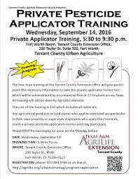 private pesticide applicator training u2013 evening course