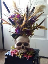 flower arrangements halloween skelton skull flower arrangement