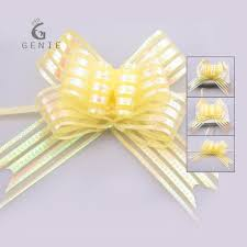 pull ribbon genie 100pcs lot large organza pull bow ribbon s day