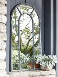 Ideas Design For Arched Window Mirror With A Soft Arched Top In A Distressed Zinc Effect Finish Our