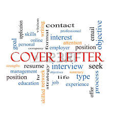cover letter word cloud concept with great terms such as interview