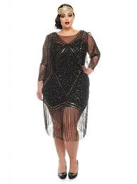 gatsbylady betty vintage inspired fringe dress in black scandi