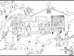 clip art fire station coloring page mycoloring free printable