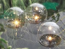 pond lighting product set of glass globe floating pond lights