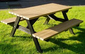 wooden picnic tables for satisfaction and also practicality
