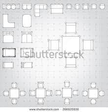 Floor Plan Furniture Clipart Set Simple 2d Flat Vector Icons Stock Vector 373292248 Shutterstock