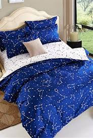 Electric Blue Duvet Cover Esydream Home Bedding Blue Color Constellation 4pc Duvet Cover