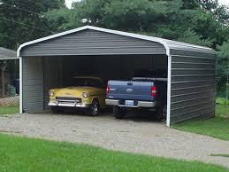 nice natural design of the metal rv garages that has cream wall