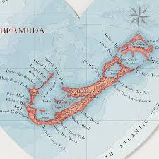 Bermuda World Map Bermuda Map Heart Print By Bombus Off The Peg Notonthehighstreet Com